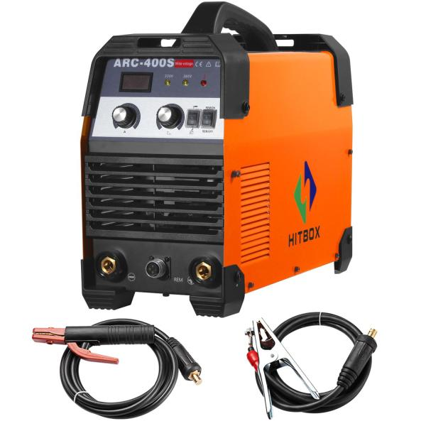 HITBOX ARC 300A Welder Stick 220V 380V Arc Electric Welder Industry     HITBOX ARC 300A Welder Stick 220V 380V Arc Electric Welder Industry Machine  Heavy Duty Inverter Mma Dc Unit ARC400S 200A 300A Use 5 0mm Rods Arc Welder  220v