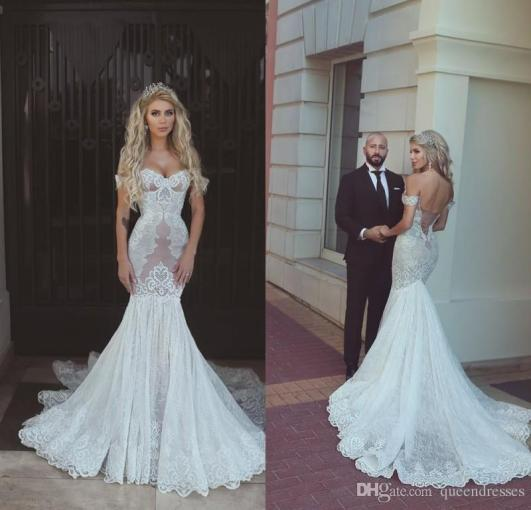 Vintage White Mermaid Wedding Dresses Lace 2017 Off Shoulder     Vintage White Mermaid Wedding Dresses Lace 2017 Off Shoulder Sweetheart  Lace Up Chapel Train Wedding Gowns Bridal Dress Brautkleider Online Mermaid  Wedding