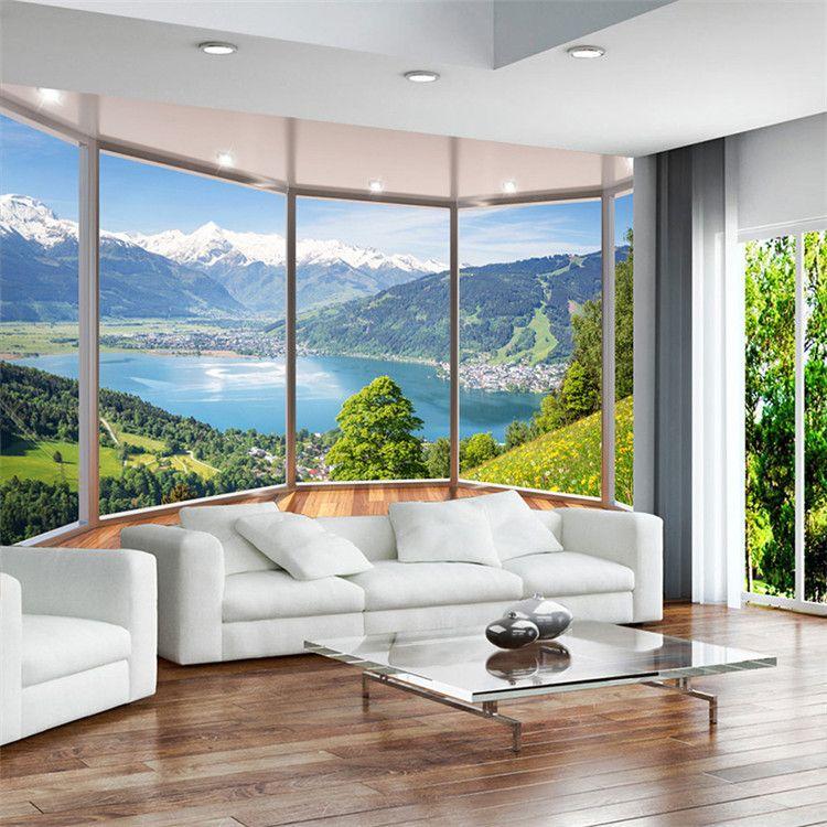 Großhandel Benutzerdefinierte 3D Wandbild Tapete Modern Creative