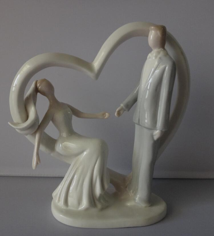 Wedding Cake Toppers Figurines Heart Porcelain Bride And Groom     Wedding Cake Toppers Figurines Heart Porcelain Bride and groom Couple Table Cake  Toppers Figures for Wedding