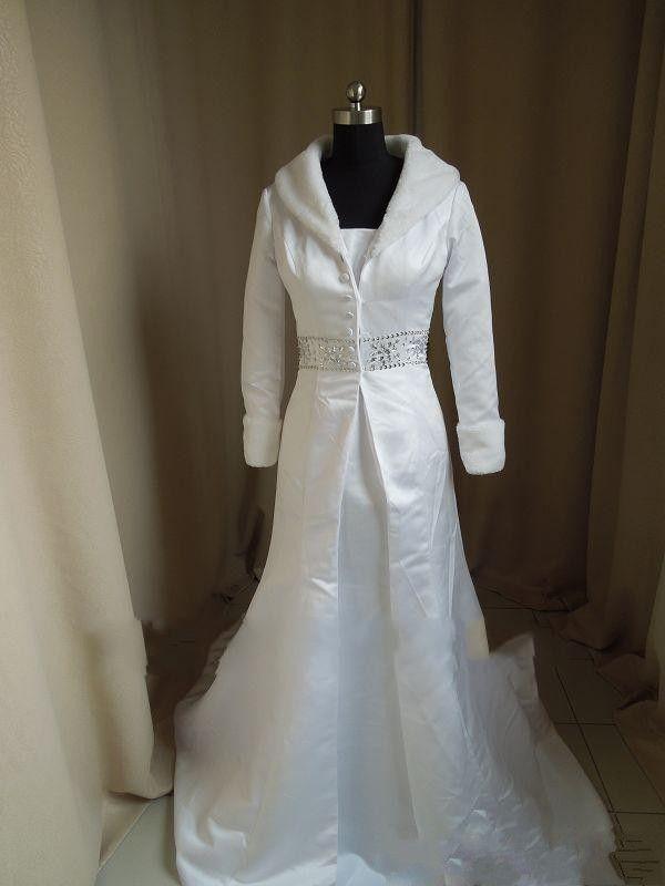 Short Wedding Dress Winter