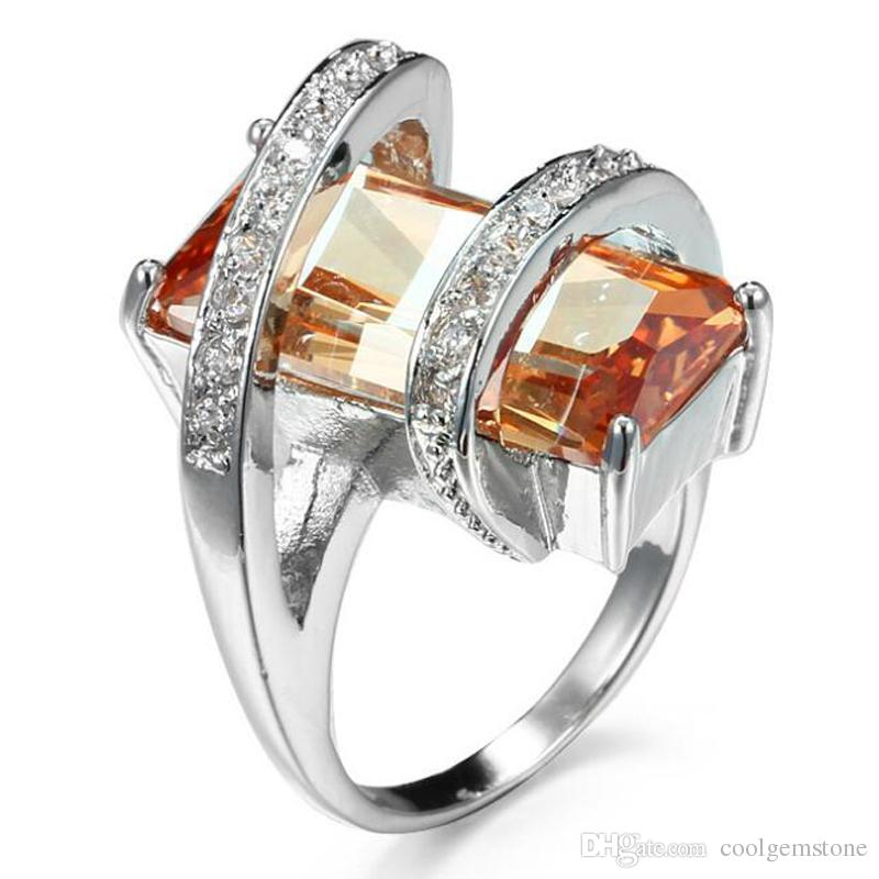 2019 Unique Mens Womens Rings Three Colors 925 Sterling Silver London Blue Topaz Pink Topaz