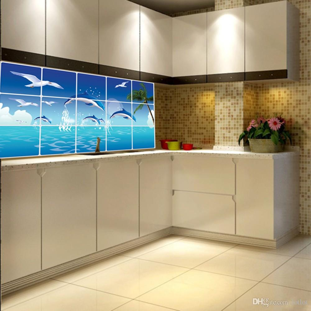 Best Kitchen Gallery: Waterproof Bathroom Kitchen Tile Aluminum Foil Wall Sticker Home of Foil Kitchen Tile on rachelxblog.com