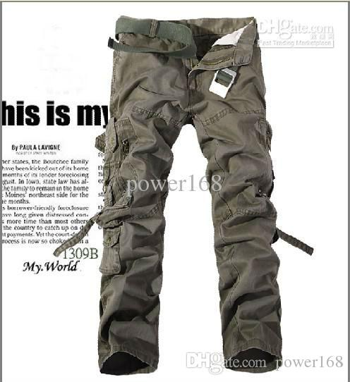 2019 Spring Multi Pocket Cargo Pants Men S Casual Pants