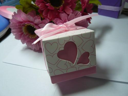 Wedding Bomboniere Heart Design Wedding Cake Boxes Pink And Purple     Wedding Bomboniere Heart Design Wedding Cake Boxes Pink And Purple Hot  Selling Online with  76 58 Piece on Kissulwedding s Store   DHgate com