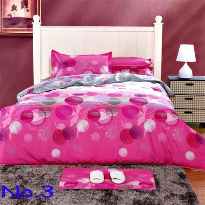 Pink 100  Cotton Printed Soften Bedding Set Creative Quilt Cover     Pink 100  Cotton Printed Soften Bedding Set Creative Quilt Cover Flat Sheet  2 Pillowcase Bedding Online with  62 3 Set on Tesco best s Store    DHgate com