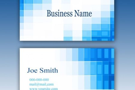 Blue business card template PSD file   Free Download Blue business card template Free Psd