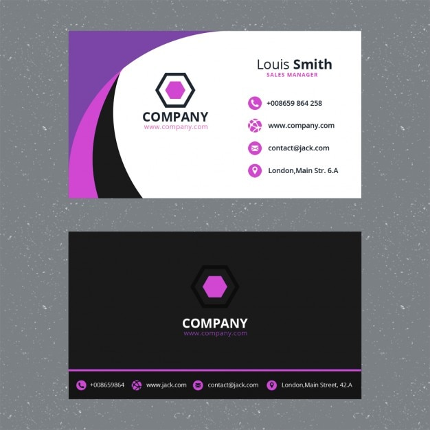 Purple business card template PSD file   Free Download Purple business card template Free Psd