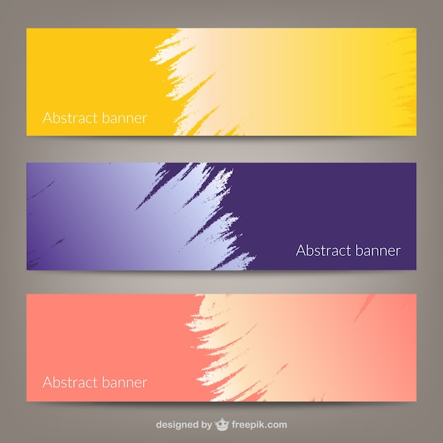 Abstract banner templates Vector   Free Download Abstract banner templates Free Vector