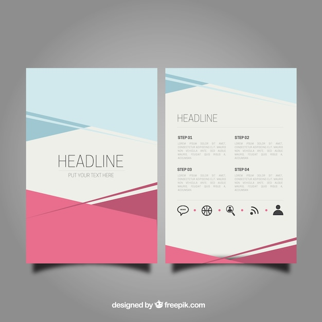 Abstract brochure template Vector   Free Download Abstract brochure template Free Vector