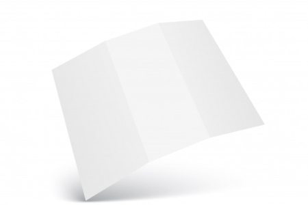 Blank Trifold paper leaflet mock up template Vector   Premium Download Blank Trifold paper leaflet mock up template Premium Vector