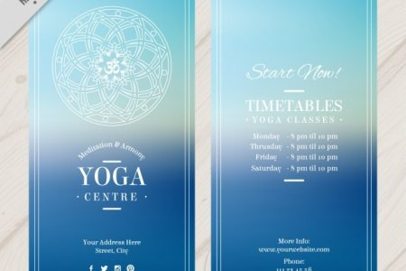 Blue Yoga Flyer Vector   Free Download Blue Yoga Flyer Free Vector