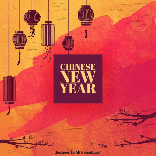 New Year Merry Christmas Card Happy Chinese