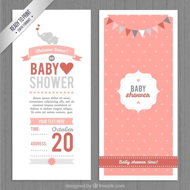 Baby Shower Invitations Vector