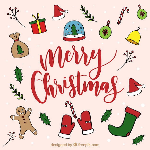Cute christmas background Vector | Free Download
