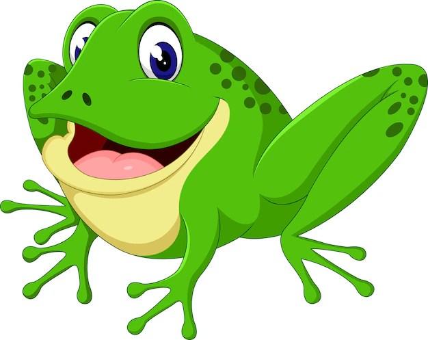 Cute frog cartoon Vector | Premium Download