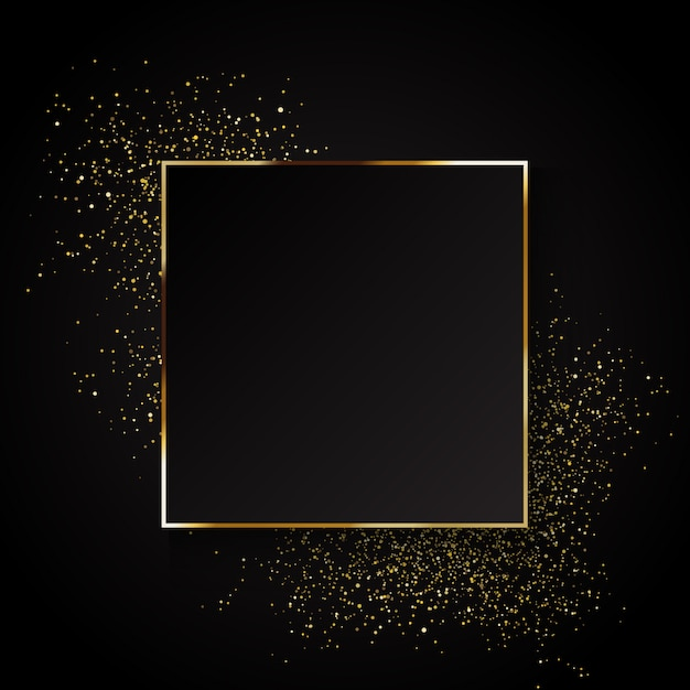 And Borders Black Party Gold Symbols