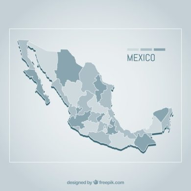 Flat mexico map background Vector   Free Download Flat mexico map background Free Vector