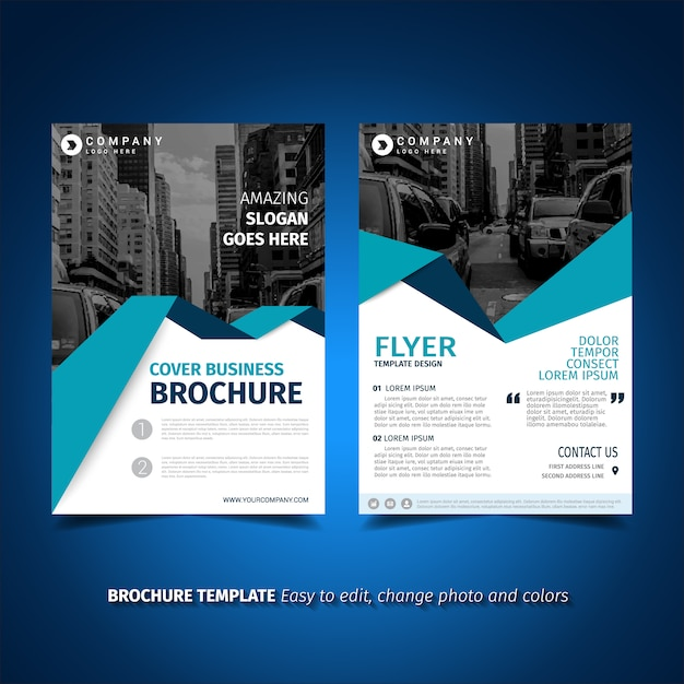 Flyer template design Vector   Free Download Flyer template design Free Vector