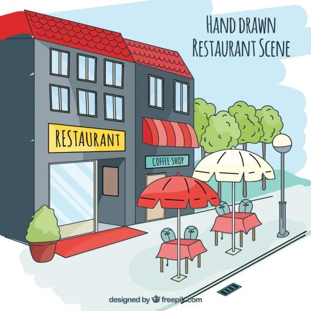 Restaurant Building Clip Art
