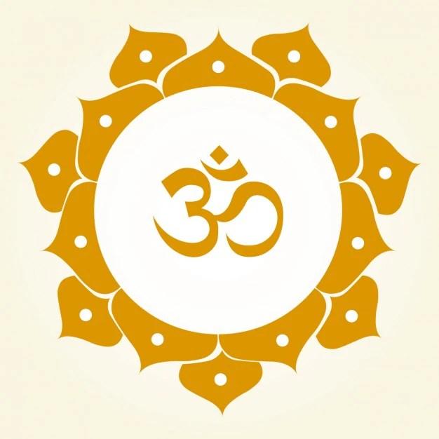 Om symbol ornamental Vector | Free Download