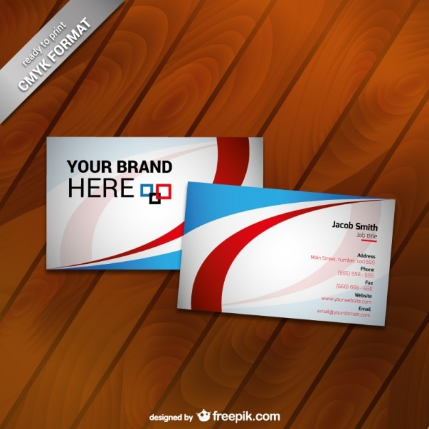 Printable business card template Vector   Free Download Printable business card template Free Vector
