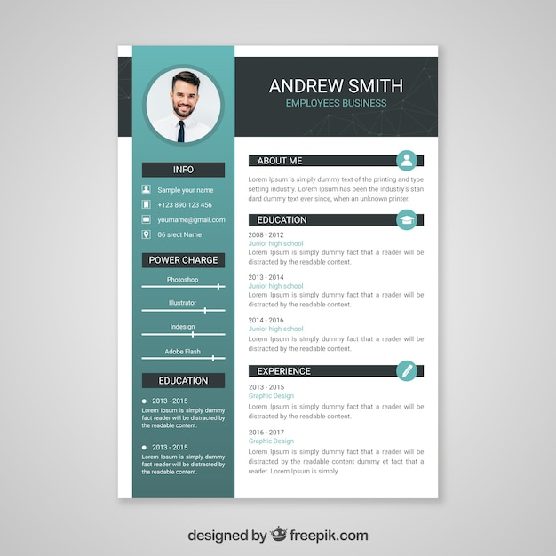Professional curriculum vitae template Vector   Free Download Professional curriculum vitae template Free Vector