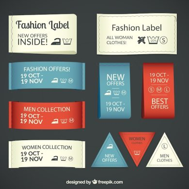 Textile fashion labels Vector   Free Download Textile fashion labels Free Vector