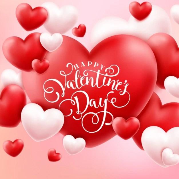 Valentine's background design Vector | Free Download