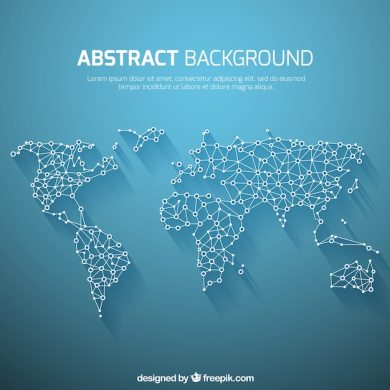 World map background in abstract style Vector   Free Download World map background in abstract style Free Vector