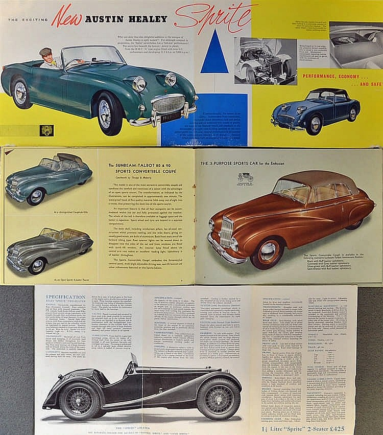 Automotive C 1930s Onwards British Car Manufacturers Broch