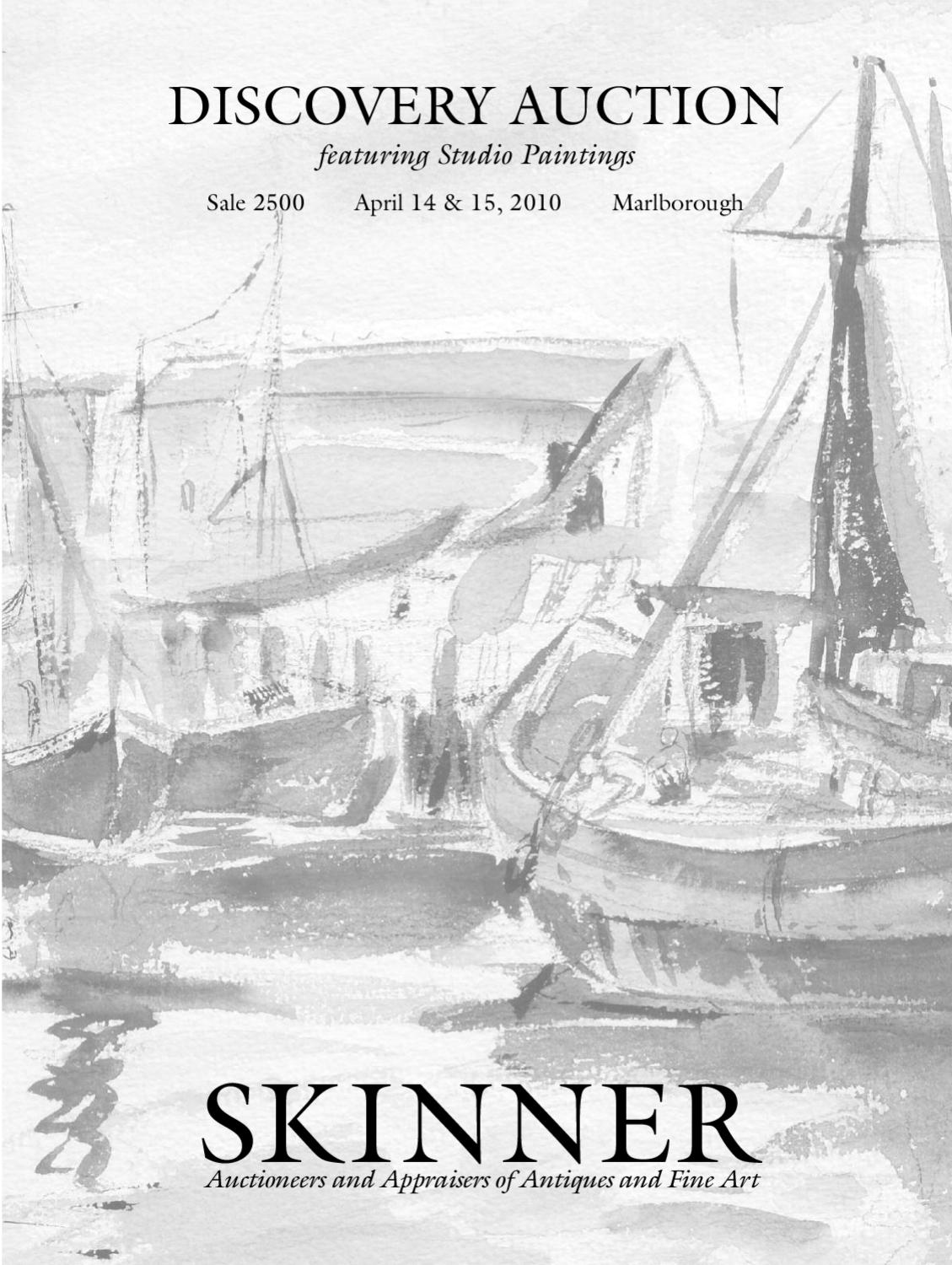 Discovery featuring studio paintings skinner auction 2500 by skinner inc issuu