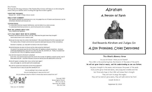 abraham and his guests sunday school # 39