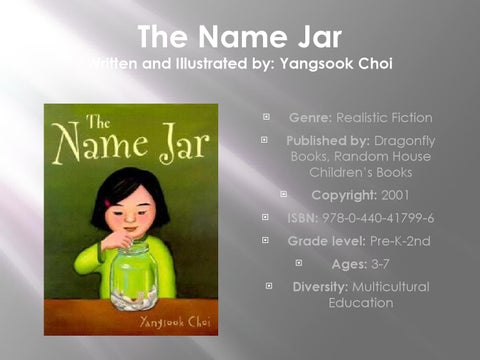The Name Jar by Catie - Issuu