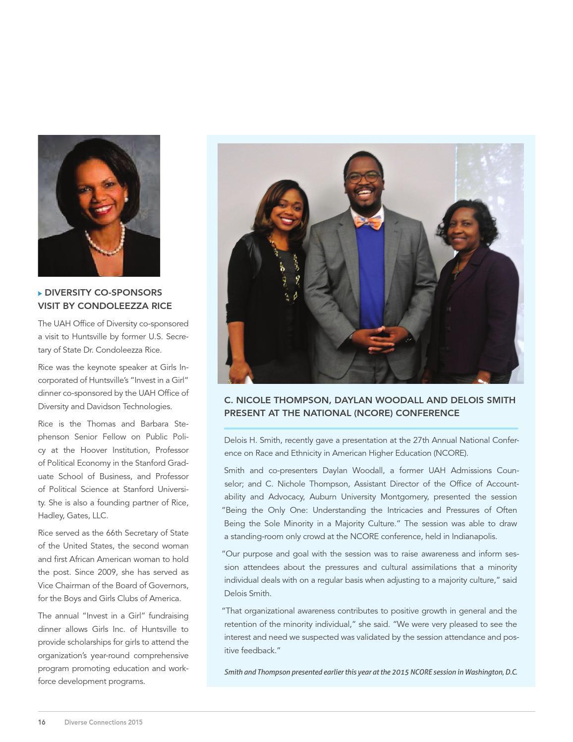University Alabama Condoleezza Rice