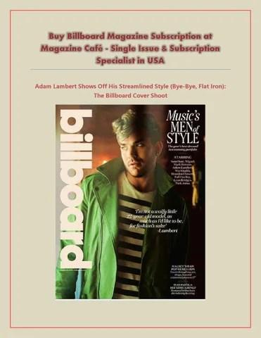 billboard magazine subscription - 320×414