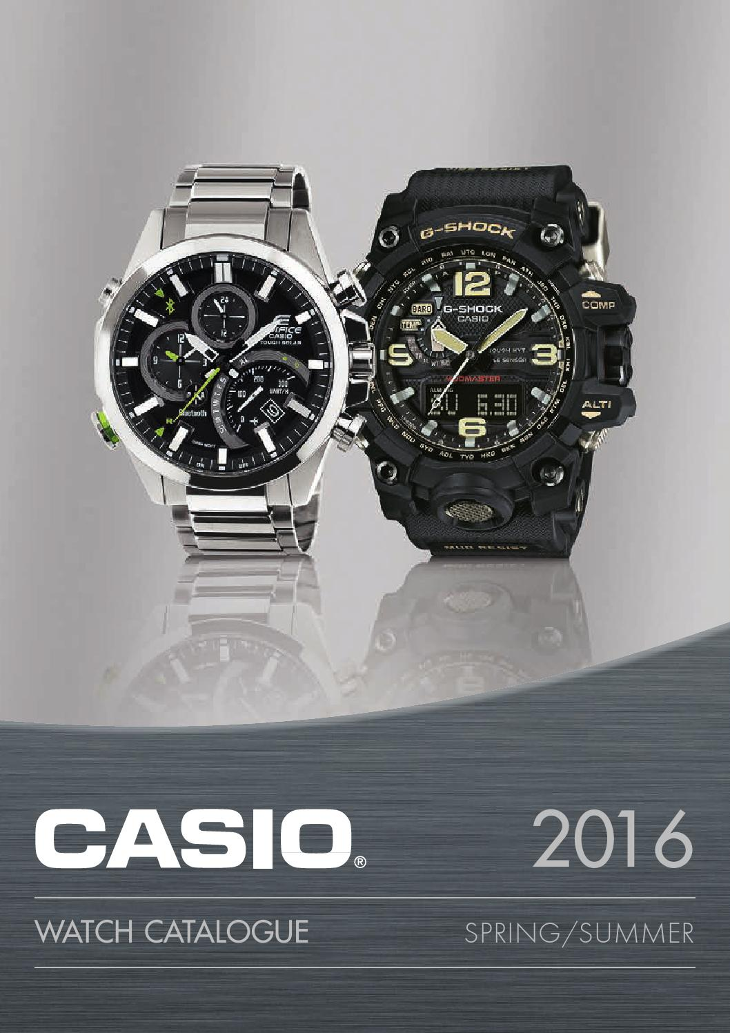 Casio Klokkekatalog 2016 Norge By Casio Scandinavia Issuu