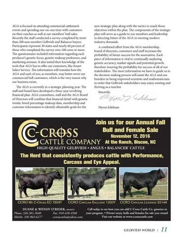 July Gelbvieh World Herd Reference Edition by American Gelbvieh