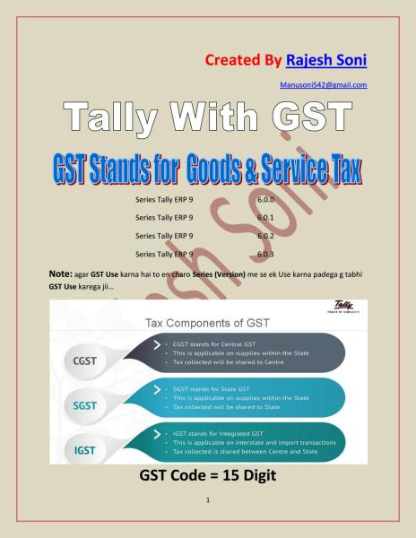 Tally with gst 1 to 12 assignment complete by rajesh soni   issuu