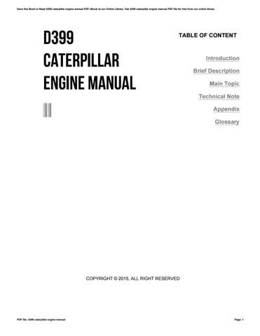 free caterpillar engine manuals online # 8