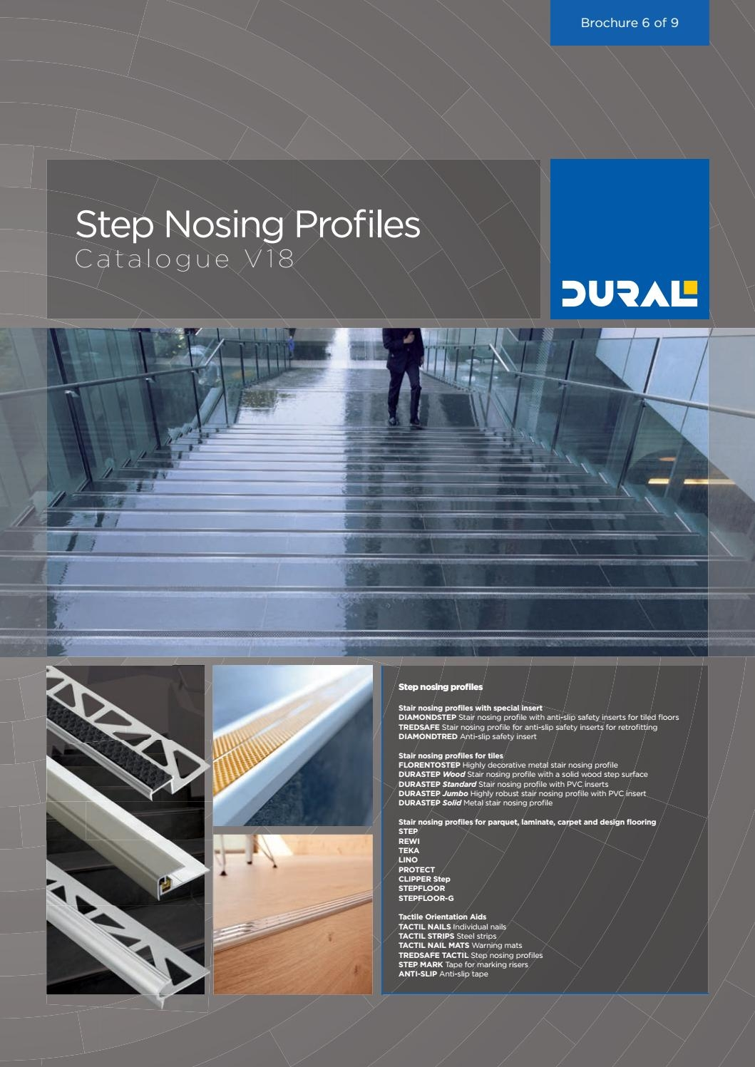 Step Nosing Profiles Catalogue V18 By Ctc Issuu | Non Slip Nosing For Carpeted Stairs | Brown Cinnamon | Stair Tread Nosing | Aa123 | Laminate Flooring | Slip Resistant