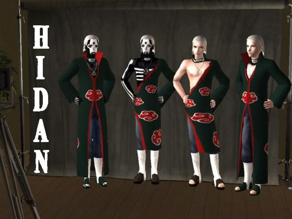 Homepage   Anime Sims 2   Sims 3 Downloads by Amy Hotchic Yo I made an update 8D Its Hidan in all his glory versions and