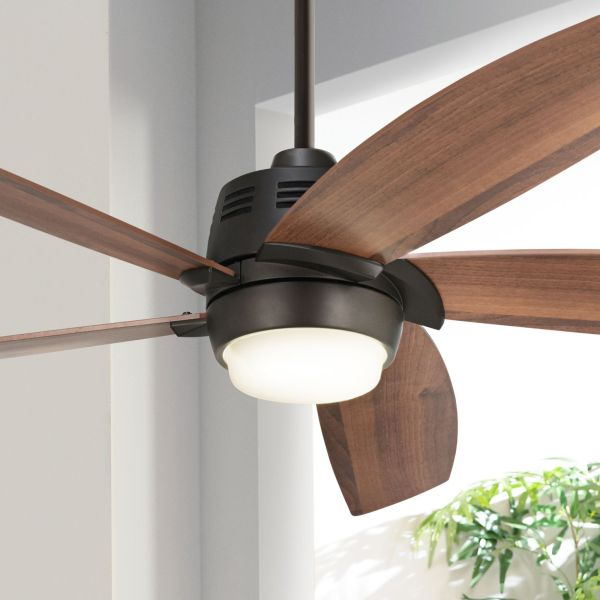 Arts And Crafts   Mission  Ceiling Fans   Lamps Plus 56  Casa Ecanto       Oil Rubbed Bronze LED Ceiling Fan