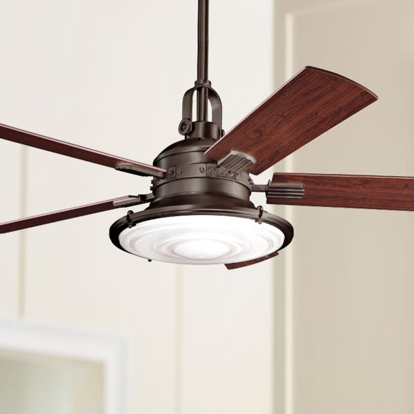Arts And Crafts   Mission  Ceiling Fans   Lamps Plus 52  Kichler Kittery Point Olde Bronze Ceiling Fan