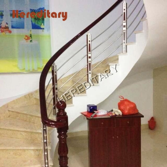 Indoor Aluminum And Wood Glass Stair Railing Cost China   Glass Stair Railing Cost   Living Room   Glass Balustrade   Simple   Grill   Glass Wood Combined