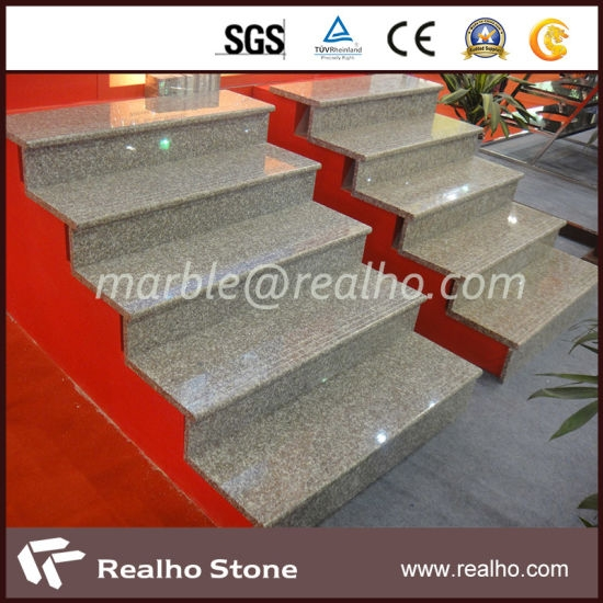 China Modern Stone Interior Exterior Stair Treads With Sgs Ce | Exterior Stone Stair Treads | Stone Slab | Grey Flagstone Step | Solid Weathered | Carpet Metal Rail Wood Cap | Brick