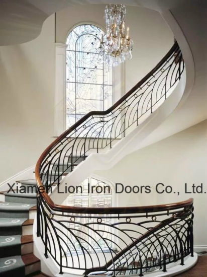 China Exterior Handrail Lowes Wrought Iron Railing Stair Railing   Rod Iron Railing For Steps   Custom   Contemporary   Classic   Raw Iron   Rustic