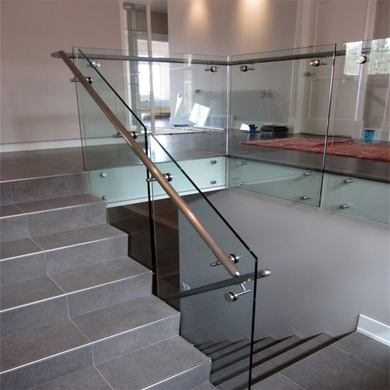 China Toughened And Laminated Glass Patch Fitting Railing Design   Stair Railing Design Modern   White   Model Modern Staircase   Marble   Exterior Irregular Stair   Balcony