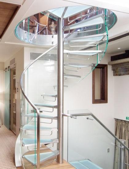 China Attic Interior Modern Design Glass Spiral Staircase For | Spiral Staircase To Attic | Easy | Adding | Stairway | White | Corner
