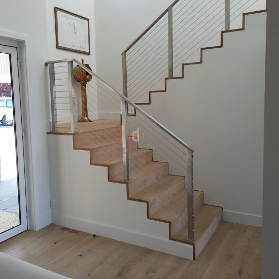 Stainless Steel Stairs Rails Stainless Steel Cable Balustrade   Stainless Steel Banister Rail   Ags Stainless   Satin Stainless   Metal Fabrication   Railing Designs   Cable Railing Kits